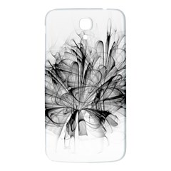 Fractal Black Flower Samsung Galaxy Mega I9200 Hardshell Back Case by Simbadda