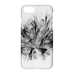 Fractal Black Flower Apple Iphone 7 Hardshell Case by Simbadda