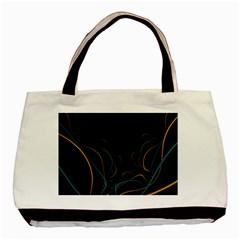 Fractal Lines Basic Tote Bag (two Sides) by Simbadda