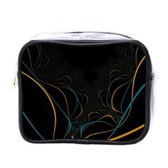Fractal Lines Mini Toiletries Bags by Simbadda