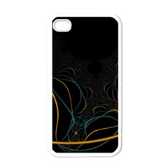 Fractal Lines Apple Iphone 4 Case (white) by Simbadda