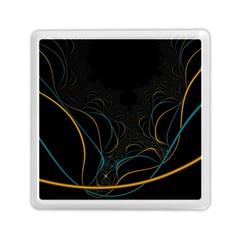 Fractal Lines Memory Card Reader (square)  by Simbadda