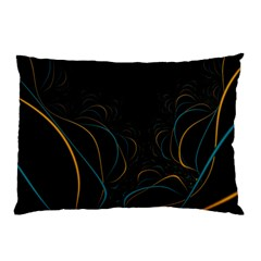 Fractal Lines Pillow Case (two Sides) by Simbadda