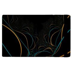 Fractal Lines Apple Ipad 2 Flip Case by Simbadda