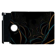 Fractal Lines Apple Ipad 3/4 Flip 360 Case by Simbadda