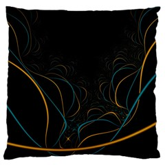 Fractal Lines Large Flano Cushion Case (two Sides) by Simbadda
