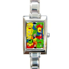 Mexico Rectangle Italian Charm Watch by Valentinaart