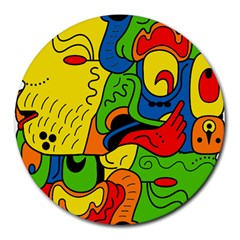 Mexico Round Mousepads by Valentinaart