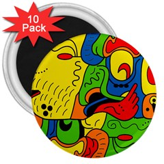 Mexico 3  Magnets (10 Pack)  by Valentinaart