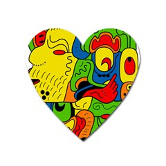 Mexico Heart Magnet by Valentinaart