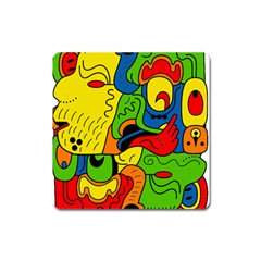 Mexico Square Magnet by Valentinaart