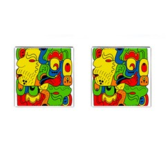 Mexico Cufflinks (square) by Valentinaart