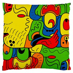 Mexico Large Cushion Case (one Side) by Valentinaart