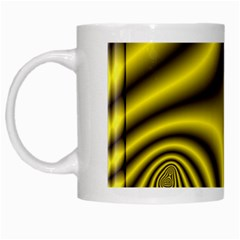 Yellow Fractal White Mugs by Simbadda