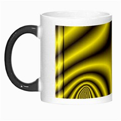 Yellow Fractal Morph Mugs by Simbadda