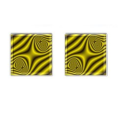 Yellow Fractal Cufflinks (square) by Simbadda