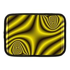 Yellow Fractal Netbook Case (medium)  by Simbadda