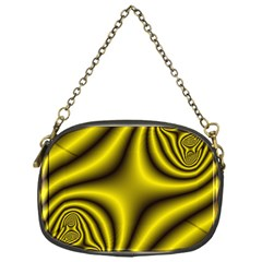 Yellow Fractal Chain Purses (one Side)  by Simbadda