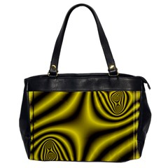 Yellow Fractal Office Handbags by Simbadda