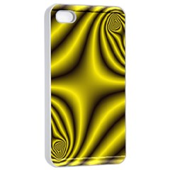 Yellow Fractal Apple Iphone 4/4s Seamless Case (white) by Simbadda