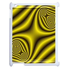 Yellow Fractal Apple Ipad 2 Case (white) by Simbadda