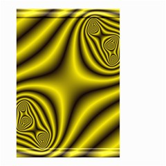 Yellow Fractal Small Garden Flag (two Sides) by Simbadda