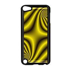 Yellow Fractal Apple Ipod Touch 5 Case (black) by Simbadda
