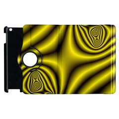 Yellow Fractal Apple Ipad 2 Flip 360 Case by Simbadda