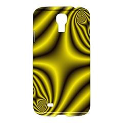 Yellow Fractal Samsung Galaxy S4 I9500/i9505 Hardshell Case by Simbadda
