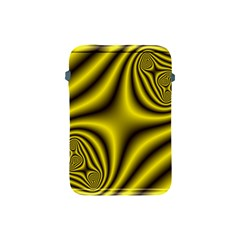 Yellow Fractal Apple Ipad Mini Protective Soft Cases by Simbadda