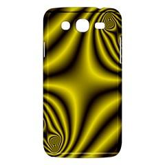 Yellow Fractal Samsung Galaxy Mega 5 8 I9152 Hardshell Case  by Simbadda
