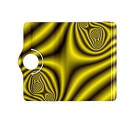 Yellow Fractal Kindle Fire Hdx 8 9  Flip 360 Case by Simbadda