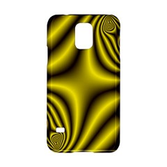 Yellow Fractal Samsung Galaxy S5 Hardshell Case  by Simbadda