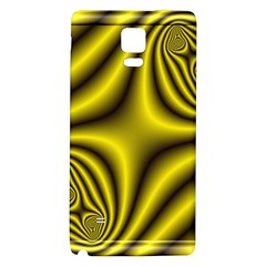 Yellow Fractal Galaxy Note 4 Back Case by Simbadda