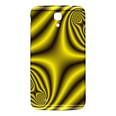 Yellow Fractal Samsung Galaxy Mega I9200 Hardshell Back Case by Simbadda