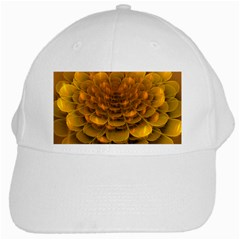 Yellow Flower White Cap by Simbadda