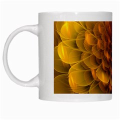 Yellow Flower White Mugs by Simbadda