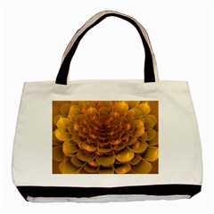 Yellow Flower Basic Tote Bag by Simbadda