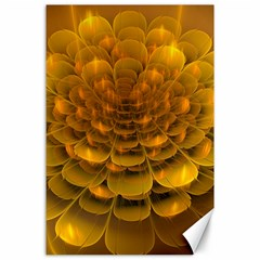 Yellow Flower Canvas 24  X 36  by Simbadda