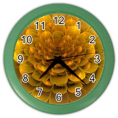 Yellow Flower Color Wall Clocks by Simbadda