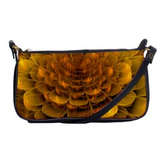 Yellow Flower Shoulder Clutch Bags by Simbadda