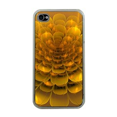 Yellow Flower Apple Iphone 4 Case (clear) by Simbadda