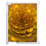 Yellow Flower Apple iPad 2 Case (White) Front
