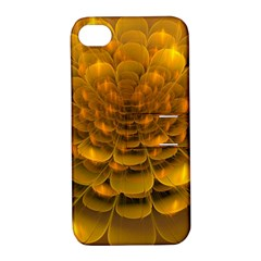 Yellow Flower Apple Iphone 4/4s Hardshell Case With Stand by Simbadda