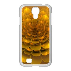Yellow Flower Samsung Galaxy S4 I9500/ I9505 Case (white) by Simbadda