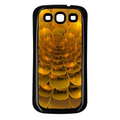 Yellow Flower Samsung Galaxy S3 Back Case (black) by Simbadda