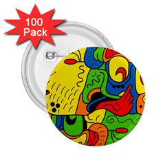Mexico 2 25  Buttons (100 Pack)  by Valentinaart