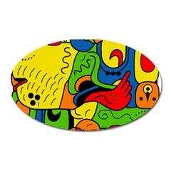 Mexico Oval Magnet by Valentinaart