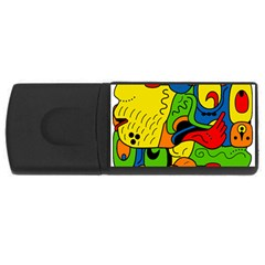 Mexico Usb Flash Drive Rectangular (4 Gb) by Valentinaart