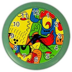Mexico Color Wall Clocks by Valentinaart